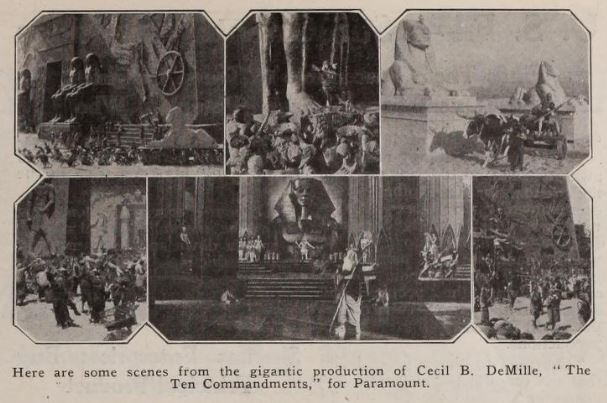 Photos of the Egyptian city sets for DeMille's The Ten Commandments (1923)