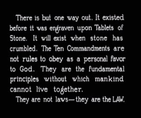 "Another title card reading ""They are not laws - they are the LAW!"